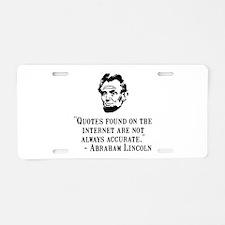 Lincoln Internet Aluminum License Plate