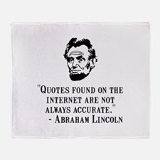 Lincoln Internet Throw Blanket