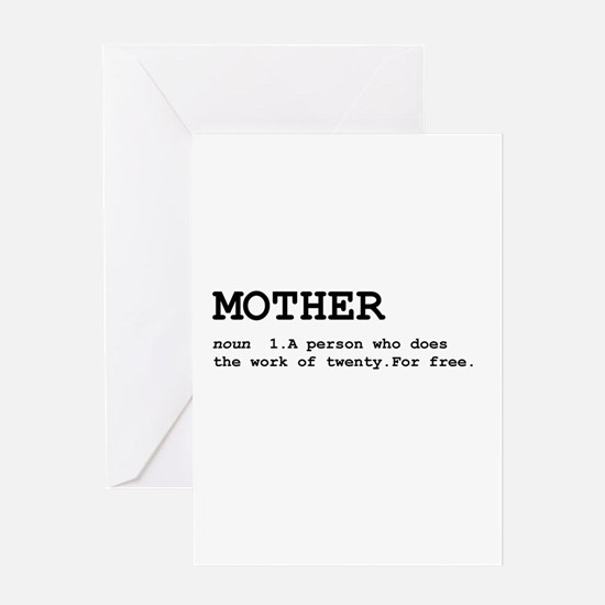 Mother Definition Greeting Card