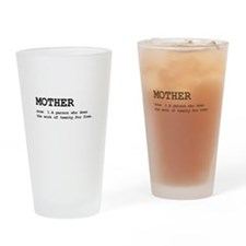 Mother Definition Drinking Glass