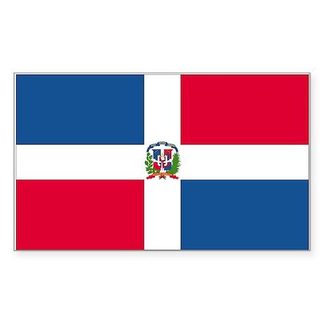 Dominican Republic Rectangle Sticker