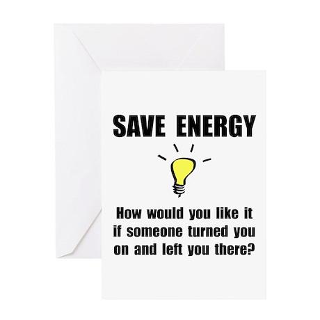 Save Energy Greeting Card