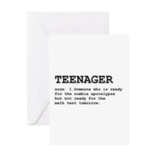 Teenager Greeting Card