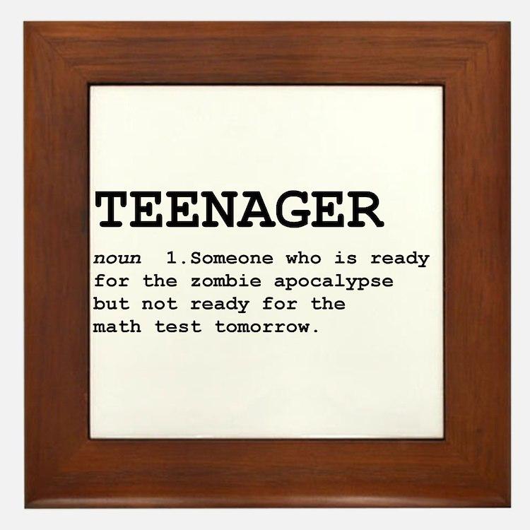 Teenager Framed Tile