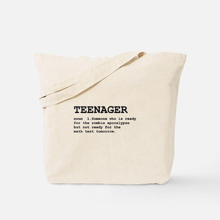 Teenager Tote Bag