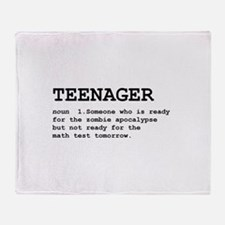 Teenager Throw Blanket