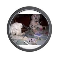 Poker Puppy Wall Clock