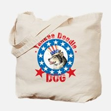 Patriotic Malemute Tote Bag