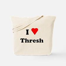 I Love Heart Thresh Tote Bag