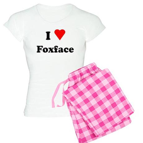 I Heart Love Foxface Women's Light Pajamas