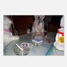 dogs at play Postcards (Package of 8)