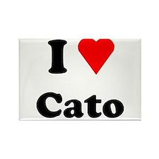 I Heart Love Cato Rectangle Magnet