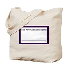 #1 Grandma Tote Bag