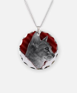Abyssinian Cat Heart Necklace