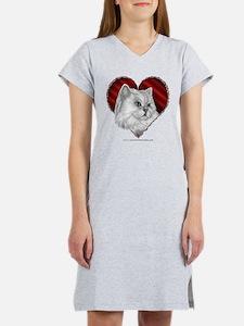 Persian Cat Heart Women's Nightshirt