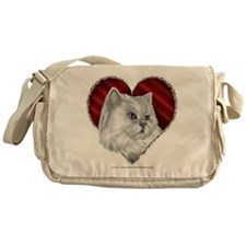 Persian Cat Heart Messenger Bag