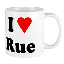 I Heart Love Rue Mug