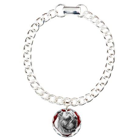 Bulldog Valentine Charm Bracelet, One Charm