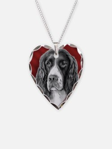 English Springer Spaniel Vale Necklace Heart Charm