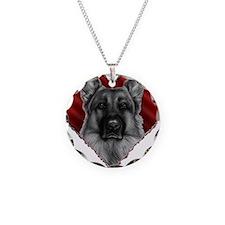 German Shepherd K9 Valentine Necklace