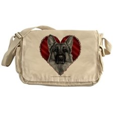 German Shepherd K9 Valentine Messenger Bag