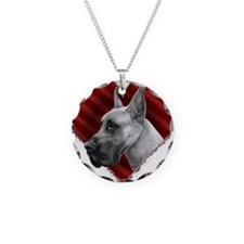 Great Dane Valentine Necklace