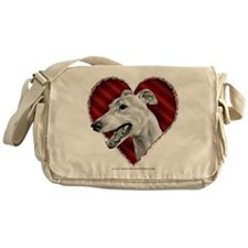 Greyhound Valentine Messenger Bag