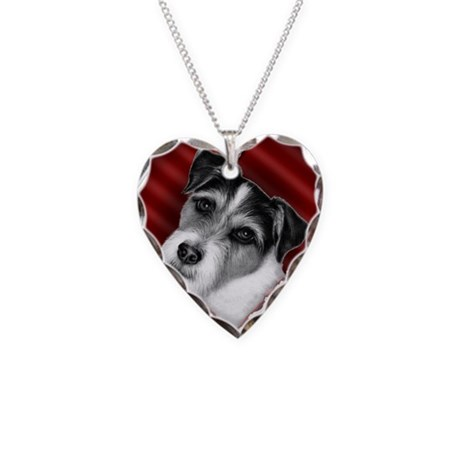 Jack Russell Terrier Valentin Necklace Heart Charm