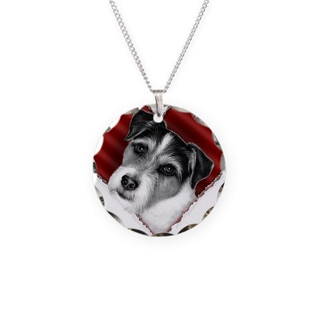 Jack Russell Terrier Valentin Necklace Circle Char