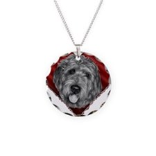 Labradoodle Valentine Necklace
