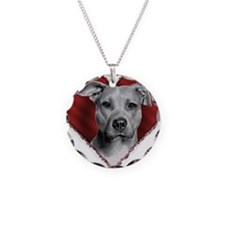 Pit Bull Terrier Valentine Necklace
