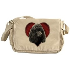 Poodle Valentine Messenger Bag