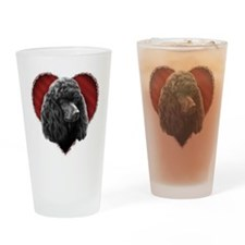 Poodle Valentine Drinking Glass