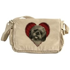 Shih Tzu Valentine Messenger Bag