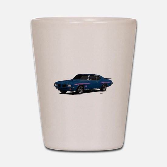 1970 GTO Judge Bermuda Blue Shot Glass