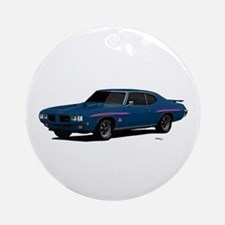 1970 GTO Judge Bermuda Blue Ornament (Round)