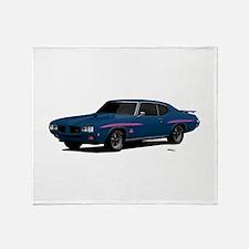1970 GTO Judge Bermuda Blue Throw Blanket