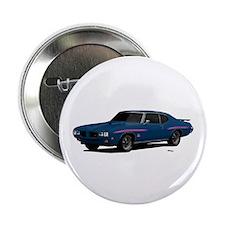 """1970 GTO Judge Bermuda Blue 2.25"""" Button"""