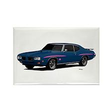 1970 GTO Judge Bermuda Blue Rectangle Magnet