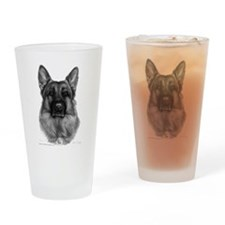 Rikko, German Shepherd, Polic Drinking Glass