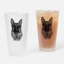 Rikko, German Shepherd, Polic Drinking Glass