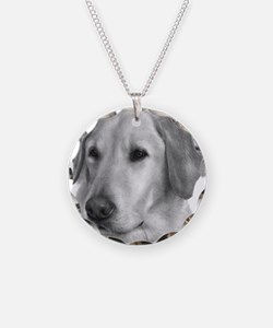 Yellow Labrador Retriever Chr Necklace