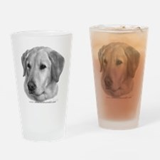 Yellow Labrador Retriever Chr Drinking Glass