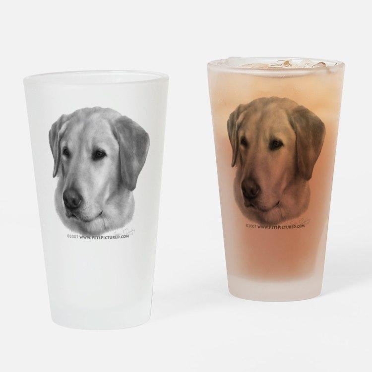 Yellow Labrador Retriever Chr Drinking Glass