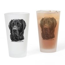 Diesel, Black Lab Drinking Glass