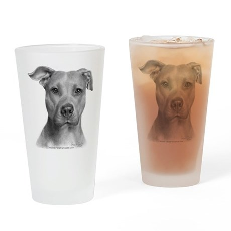 American Pit Bull Terrier Drinking Glass