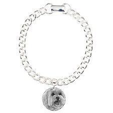 Sadie, Maltese Charm Bracelet, One Charm