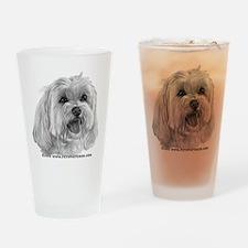 Sadie, Maltese Drinking Glass