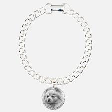 Pomeranian Charm Bracelet, One Charm