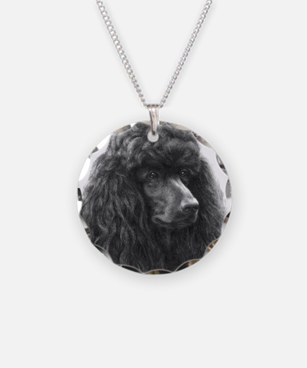 Black or Chocolate Poodle Necklace